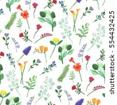 seamless watercolor pattern of... | Shutterstock . vector #554432425