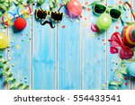 Carnival Frame With Colorful...