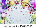 fun carnival  masquerade or... | Shutterstock . vector #554433565