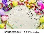 colorful metallic foil carnival ... | Shutterstock . vector #554433667