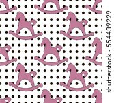 seamless vector pattern. horse... | Shutterstock .eps vector #554439229