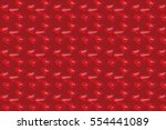 pattern with red hearts for... | Shutterstock .eps vector #554441089