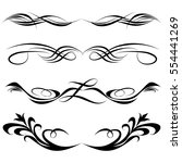 decorative monograms and... | Shutterstock .eps vector #554441269