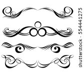 decorative monograms and... | Shutterstock .eps vector #554441275