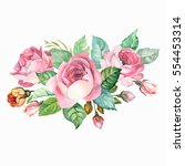 watercolor composition with... | Shutterstock . vector #554453314