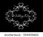 white vintage vector frame ...   Shutterstock .eps vector #554454601