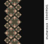 islamic frame in oriental style.... | Shutterstock .eps vector #554459041