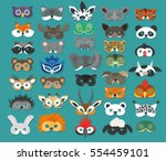 set of photo booth props masks... | Shutterstock .eps vector #554459101