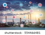 smart refinery factory and... | Shutterstock . vector #554466481
