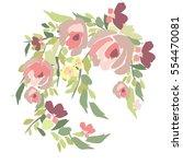 flowers illustration | Shutterstock .eps vector #554470081