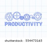 hand drawn productivity and...   Shutterstock .eps vector #554473165