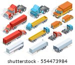 vehicle isometric collection of ... | Shutterstock .eps vector #554473984
