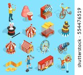 travel chapiteau circus classic ... | Shutterstock .eps vector #554476519