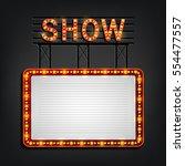 showtime signboard retro style... | Shutterstock . vector #554477557