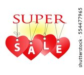 super sale badge  tag.... | Shutterstock .eps vector #554477965