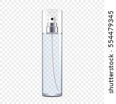 transparent perfume bottle ... | Shutterstock .eps vector #554479345