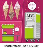 ice   cream machine. set for... | Shutterstock .eps vector #554479639