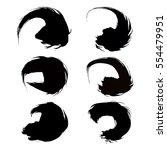 vector set of grunge brush... | Shutterstock .eps vector #554479951