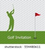 golf tournament invitation... | Shutterstock .eps vector #554480611