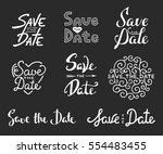 set of vector hand drawn... | Shutterstock .eps vector #554483455