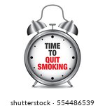time to quit smoking on retro... | Shutterstock .eps vector #554486539