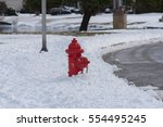 fireplug in the snow after a... | Shutterstock . vector #554495245