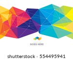 vector of modern abstract... | Shutterstock .eps vector #554495941