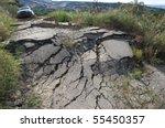 The Landslide Of A Rural Road...