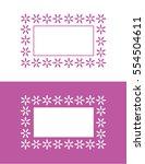 vector flower frame and border... | Shutterstock .eps vector #554504611