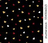 vector valentines day seamless... | Shutterstock .eps vector #554506015