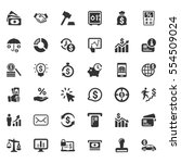 business finance icons   gray... | Shutterstock .eps vector #554509024