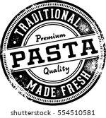 vintage pasta menu design... | Shutterstock .eps vector #554510581
