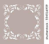 the decorative border. creative ... | Shutterstock .eps vector #554516959