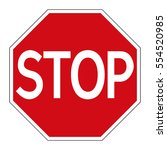 vector stop sign | Shutterstock .eps vector #554520985