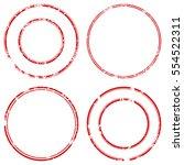 grunge stamp draft mockups set... | Shutterstock .eps vector #554522311