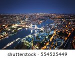 london aerial view with tower... | Shutterstock . vector #554525449