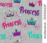 abstract seamless princess... | Shutterstock .eps vector #554532229