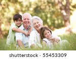 grandparents in park with... | Shutterstock . vector #55453309