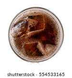 cola with ice cubes in glass... | Shutterstock . vector #554533165