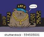 cartoon drawing of a gangster... | Shutterstock .eps vector #554535031