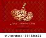 greeting card for valentine's... | Shutterstock .eps vector #554536681
