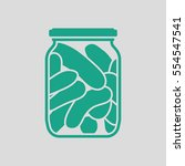 canned cucumbers icon. gray... | Shutterstock .eps vector #554547541