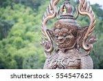 the wat pa phu kon near the... | Shutterstock . vector #554547625