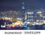 blurred bokeh lights  hong kong ... | Shutterstock . vector #554551099