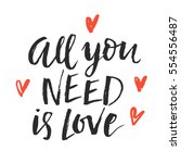 all you need is love trendy... | Shutterstock .eps vector #554556487