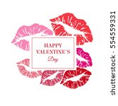 greeting valentin's card. ... | Shutterstock .eps vector #554559331