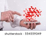 online dating concept above a... | Shutterstock . vector #554559349
