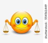 cute libra emoticon  emoji ...   Shutterstock .eps vector #554561449