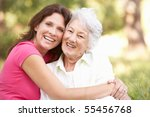 senior woman with adult... | Shutterstock . vector #55456768