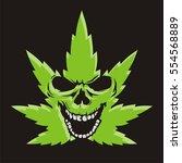 cannabis skull | Shutterstock .eps vector #554568889